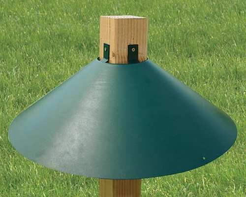 Audubon 4x4 Post Mount Squirrel Baffle 22