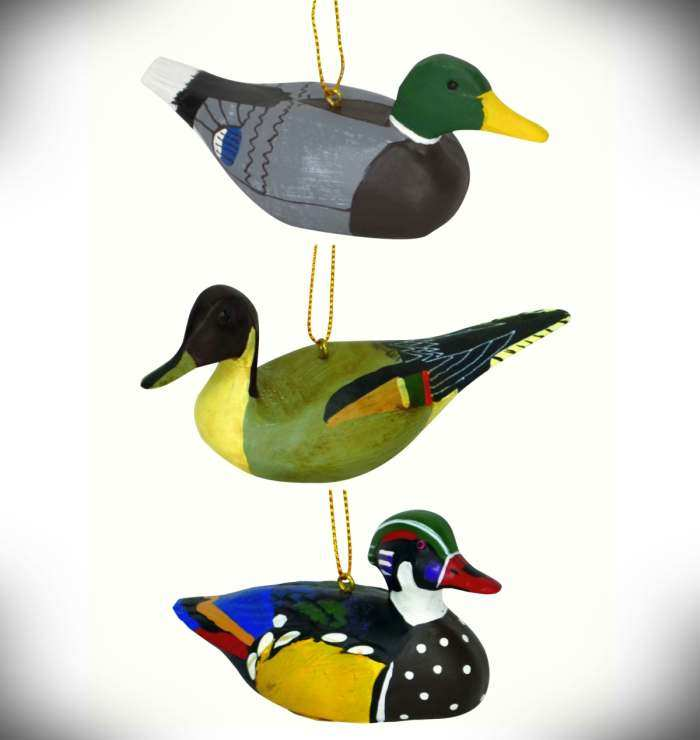Audubon Antique Duck Ornament Collection 3/Pack