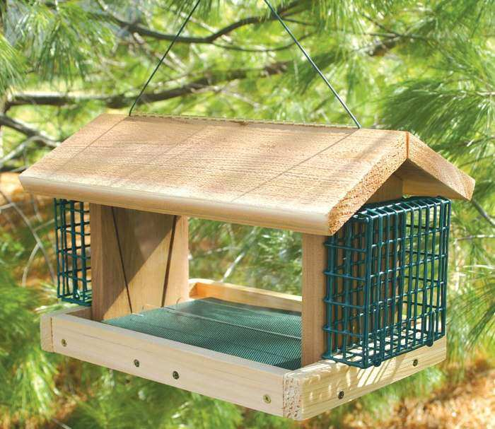 Songbird Cedar Large Plantation Feeder w/Suet