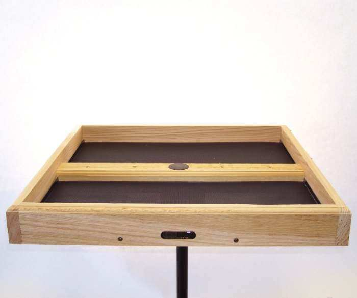 Large Cedar Pole Mount Seed Catcher Platform