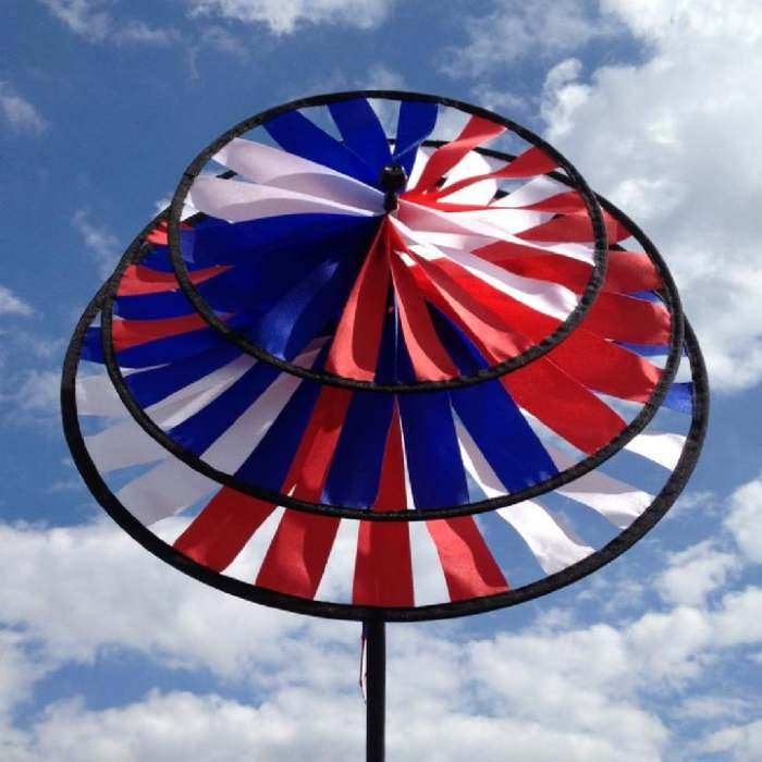 Patriotic Triple Garden Spinner