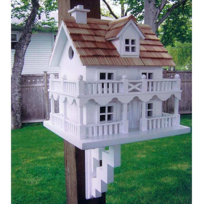 Classic Novelty Cottage Bird House w/Bracket