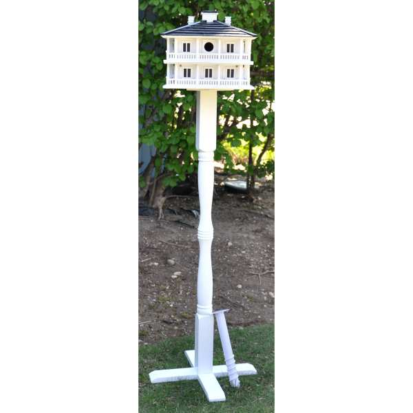 Classic Novelty Birdhouse Pedestal with Auger