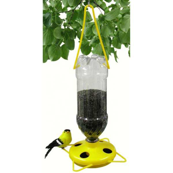Soda Bottle Yellow Thistle (Nyjer) Feeder 6/Pack
