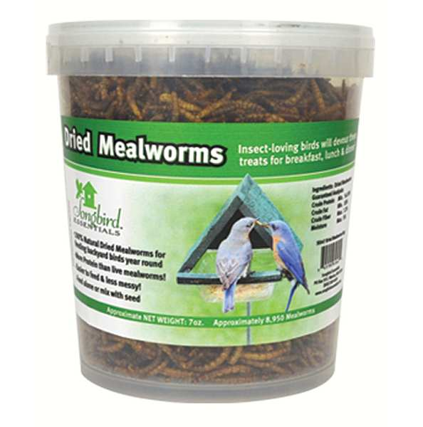 Songbird 100% Natural Dried Mealworm Tub 10 oz.
