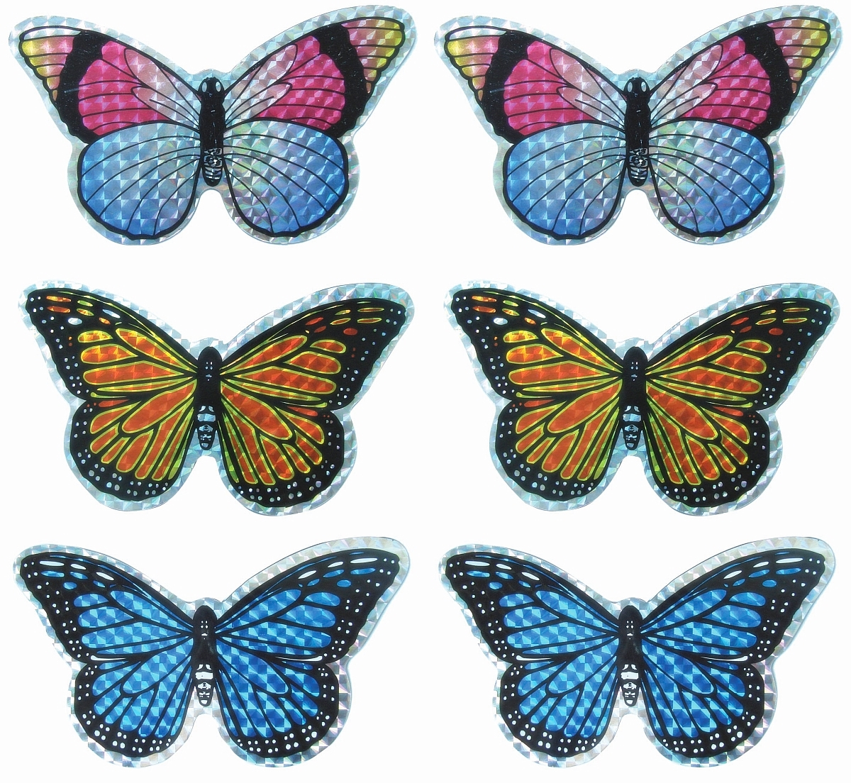 Screen Door Saver Small Butterfly Collection 6/Pak