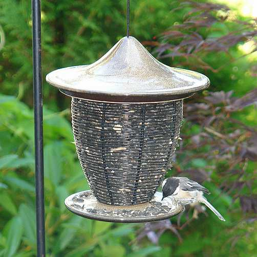 Alcyon Porcelain Pagoda Bird Feeder Sandy Granite