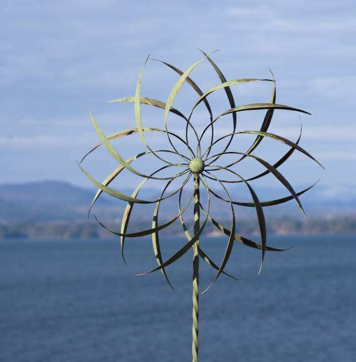 Pinwheel Large Wind Spinner with Twisted Stake