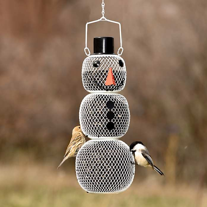 No/No Snowman Wire Mesh Bird Feeder