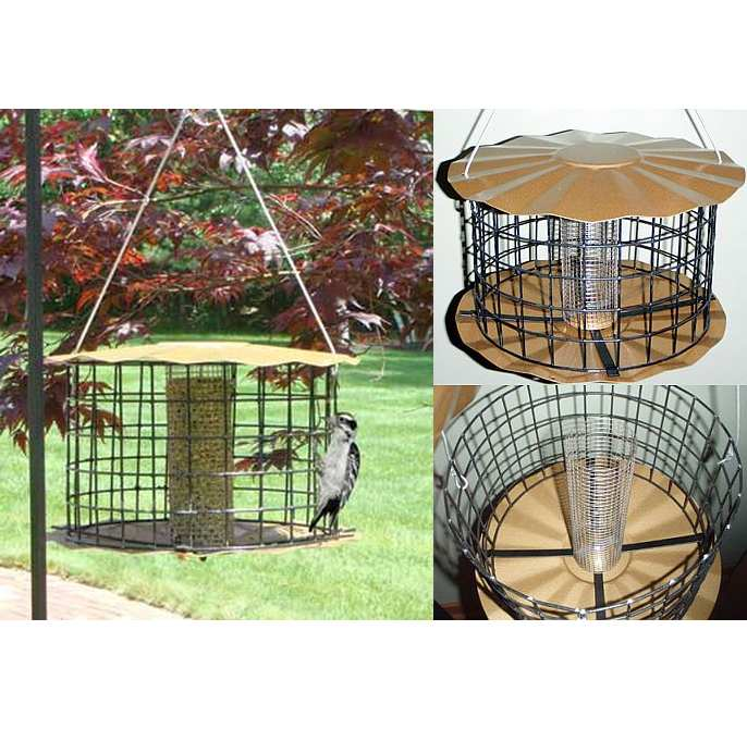 Barrier Guard Caged Sunflower/Peanut Feeder