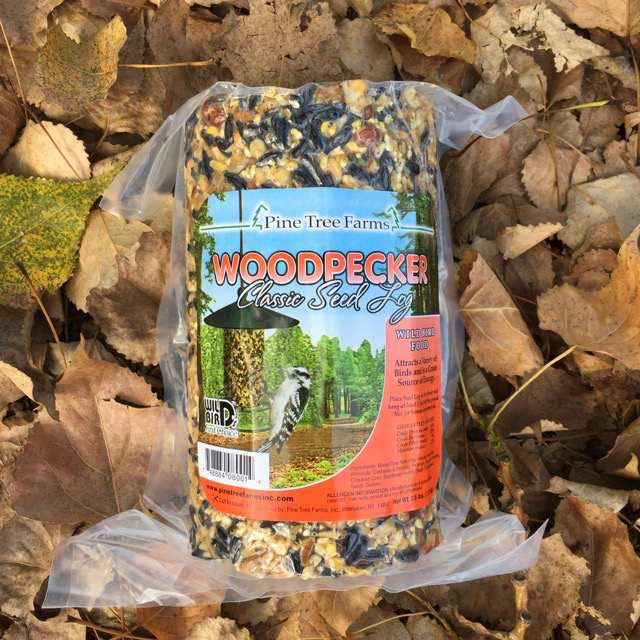 Nutsie Woodpecker Seed Log 36 oz Twin Pack