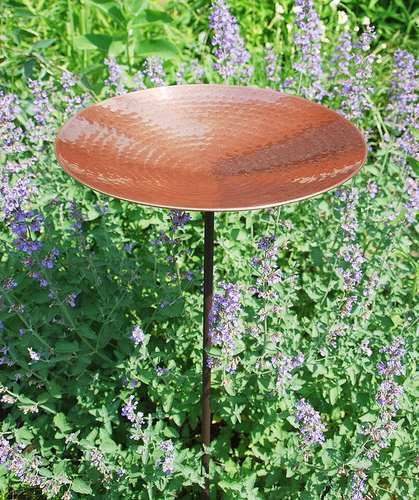 Achla Polished Copper Bird Bath