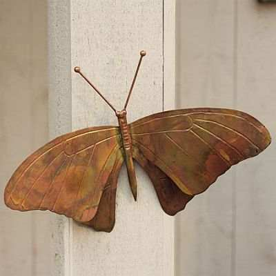 Flamed Copper Butterfly Wall Mount
