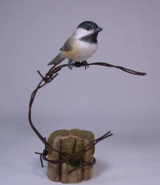 Carved Black-capped Chickadee #2