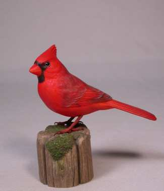 Carved Northern Cardinal Male 5