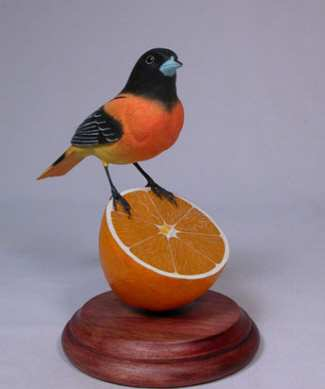 Carved Baltimore Oriole #2