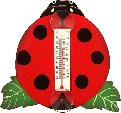 Window Thermometer Ladybug Small