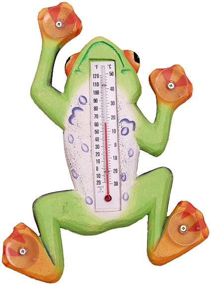 Window Thermometer Climbing Tree Frog Large