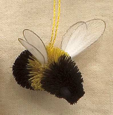 Brushart Bristle Brush Ornament Bumble Bee