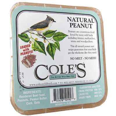 Cole's Natural Peanut Suet Cake 6/Pack