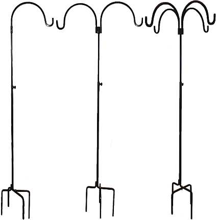 Erva Best 3Piece Birding Pole Set Easy Install Heavy Duty Bird