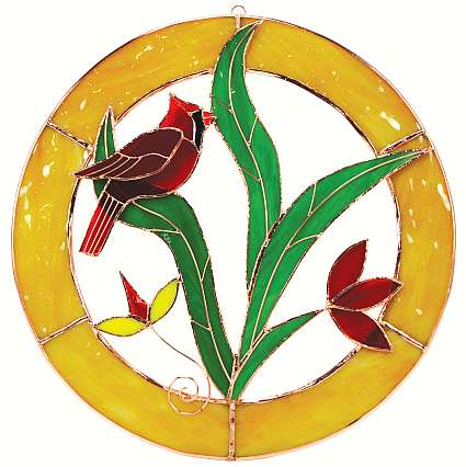 Window Panel Circle Cardinal Large