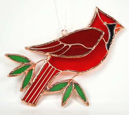 Stained Glass Suncatcher Cardinal