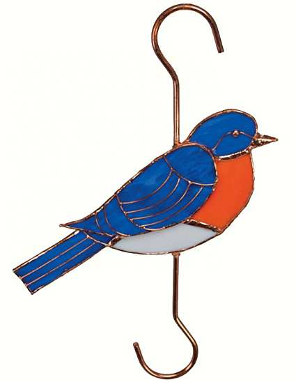 Stained Glass Garden Hook Bluebird