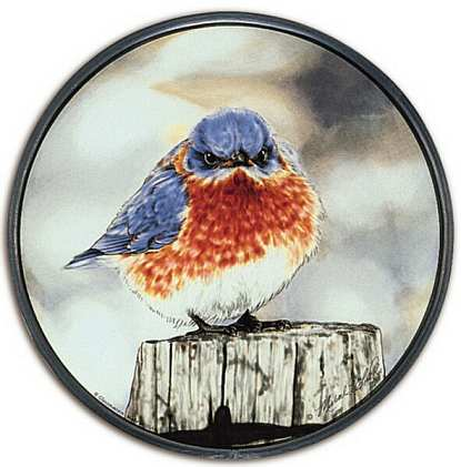 Glassmasters Stained Glass Mad Bluebird Suncatcher