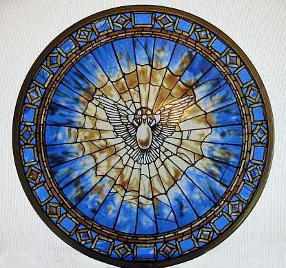 Glassmasters Stained Glass Holy Spirit Suncatcher