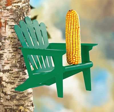 Adirondack Squirrel Chair Feeder Green