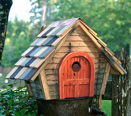 Prairie Home Bird House Natural