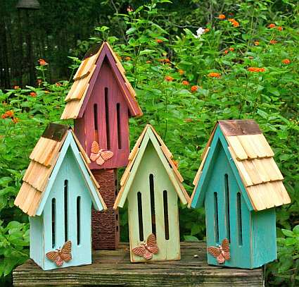Heartwood Butterfly Breeze Butterfly House Collection Set Of 4, Quality  Handcrafted Butterfly Houses At Songbird Garden