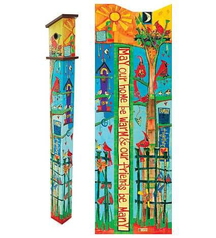 Love Garden 6 ft Art Pole 5x5 Decorative Painted Peace Garden