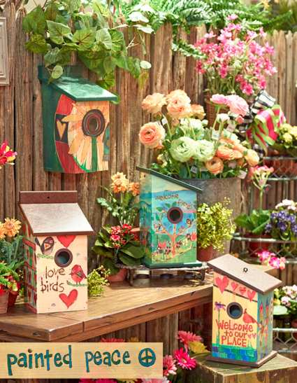 Painted Peace Birdhouse Collection