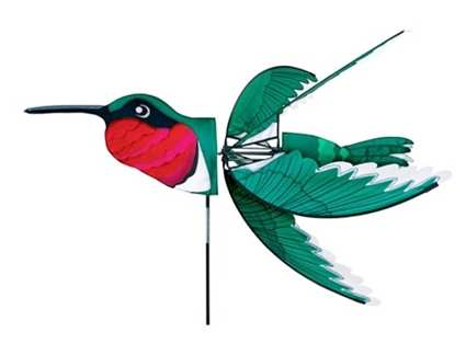 Flying Ruby Throated Hummingbird Spinner Large