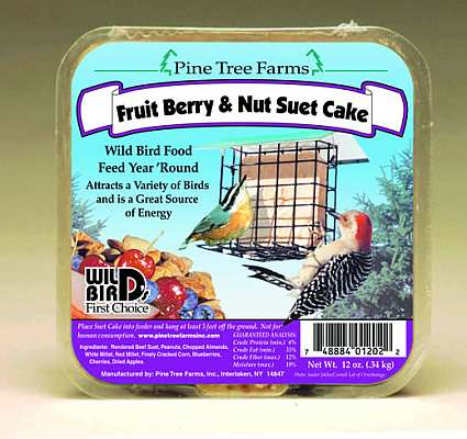 Fruit Berry & Nut Suet Cake 12 Pack