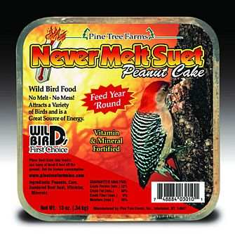 Never Melt Suet Peanut Cake 6 Pack