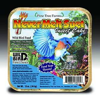 Never Melt Suet Insect Cake 6 Pack