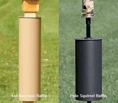 Superior Cylinder Squirrel And Raccoon Baffles, Cylindrical Bird Feeder Pole And 4x4  Post Baffles At Songbird Garden