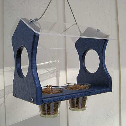 Songbird Recycled Poly Bluebird Feeder