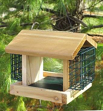 Songbird Cedar Plantation Feeder w/2 Suet Baskets