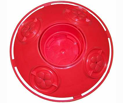 Dr. JB's Clean Hummingbird Feeder Base All Red