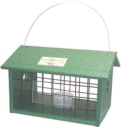 Rubicon Recycled Mealworm Jail Feeder Hunter Green
