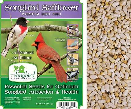 Songbird Safflower Bird Seed 20#