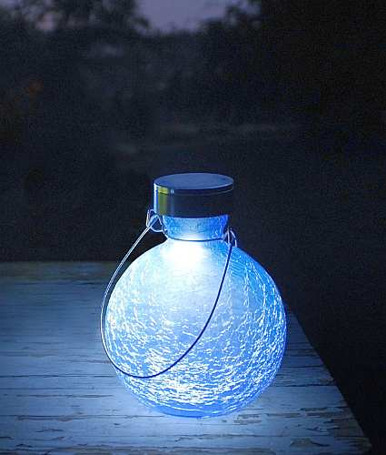 Solar Goblet Lantern Blue Lapis Set of 2
