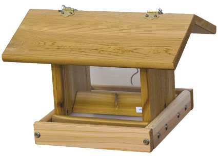 Cedar Select Small Hanging Hopper Deluxe Feeder