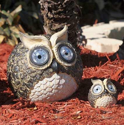 Charmant Solar Owl Accent Light Set Of 2, Eco Friendly Solar Powered Garden Accents,  Solar Garden Lights At Songbird Garden