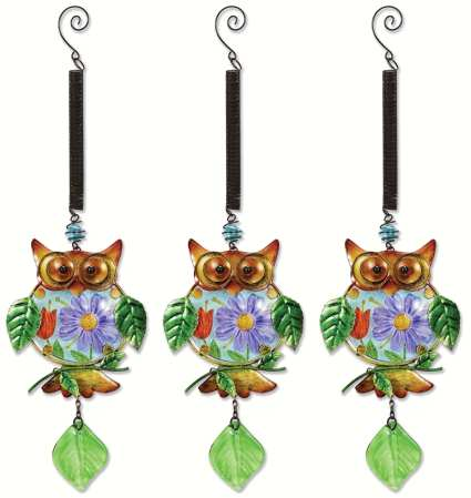 Bouncy Owl Garden Set of 3