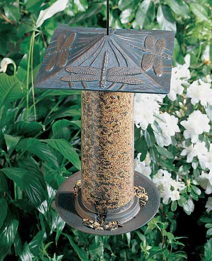 Classic Dragonfly Seed Tube Feeder Large